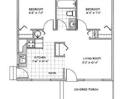 1000 sq ft house plans 1000 sq ft house with kitchen for Cottage house plans under 1000 sq ft