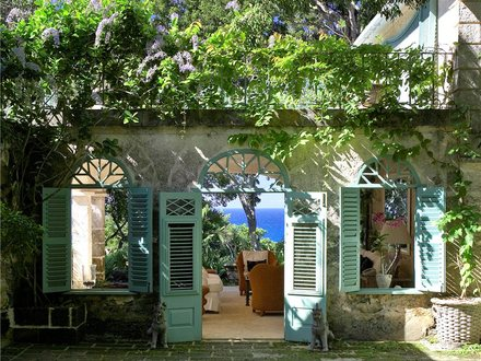 Caribbean Plantation House Wooden House in the Caribbean