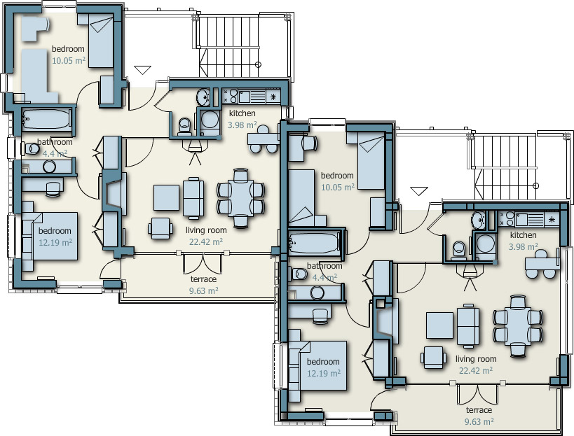 Cob home floor plans semi detached house plans detached house plans - Detached guest house plans plan ...