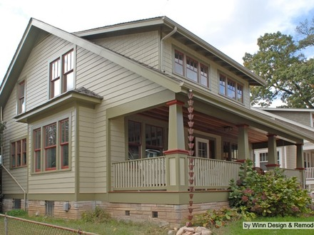 House colors for ranch style homes different types of for Craftsman home builders houston