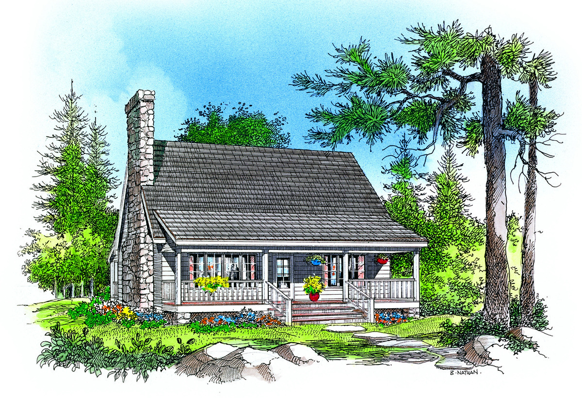 Donald gardner house plans website donald gardner small for Vacation cabin plans small