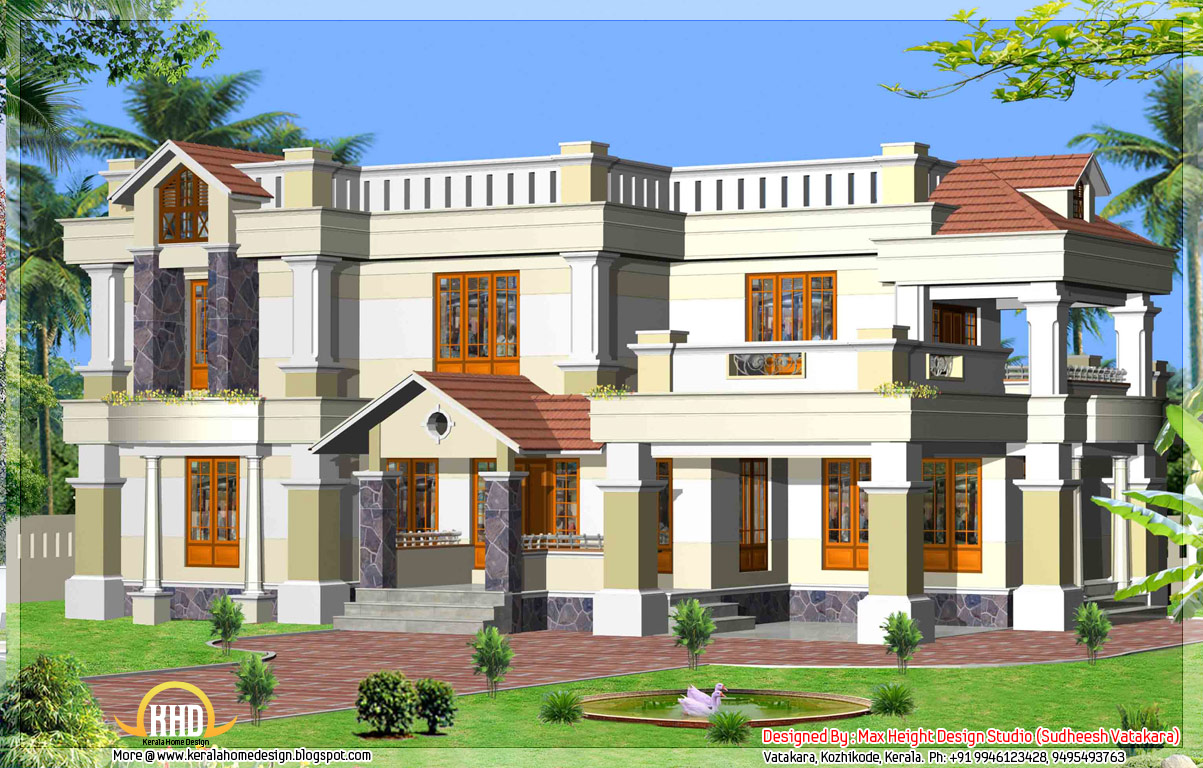 Elevation kerala style houses names of different style for Different style homes pictures