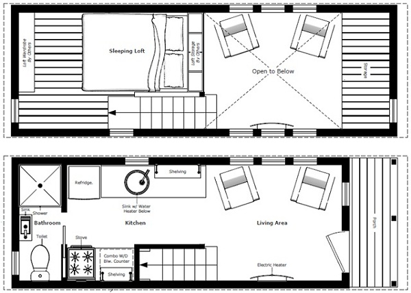 Home Floor Plans Tiny Houses Tiny House On Wheels
