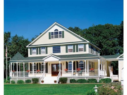 House Plans with Frontal View House Plans with Front Porches
