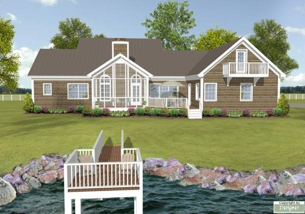 Lake House Plans with Rear View Lake House Plans with Rear View