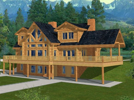 Log Cabin Homes and Houses Family Log Cabin Homes
