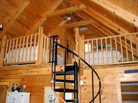 Log Cabin with Loft Cabin Loft Stairs