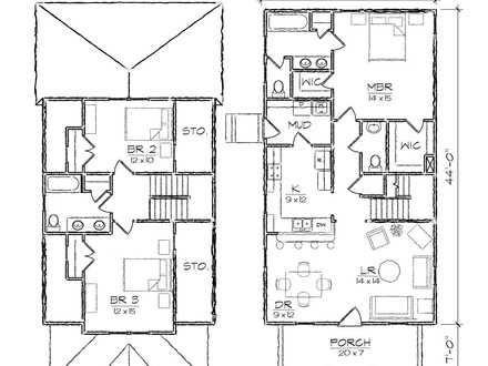 Bungalow house plans 1200 sq ft 1200 sq ft plans narrow for House plans for long narrow lots