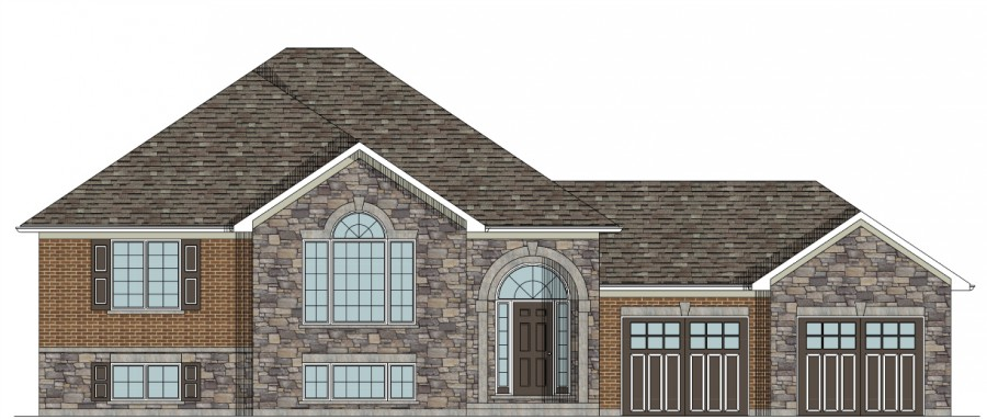 New One Story House Plans custom house plans the sudbury raised bungalow house plan $ 775 00 hst