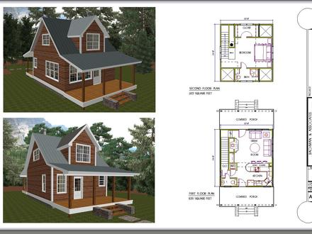 One Bedroom Cabin Plans Two Bedroom Cabin Floor Plans