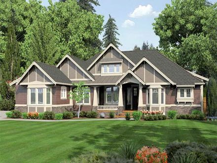 One Story Craftsman Style House Plans One Story Craftsman Style House