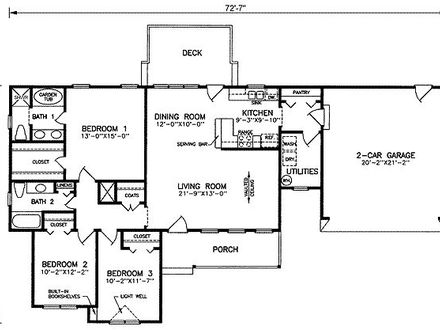 Open Floor Plan House Plans 1500 Sq FT 1500 Square Feet House Plans