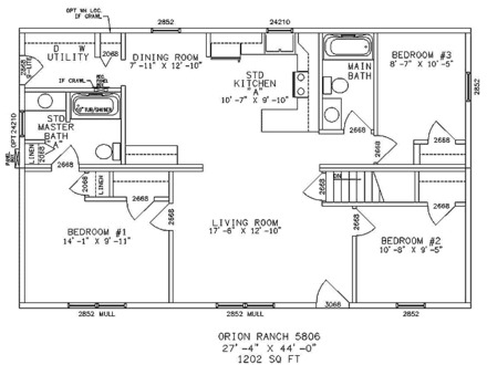 Open Floor Plans Ranch House Ranch House Floor Plans