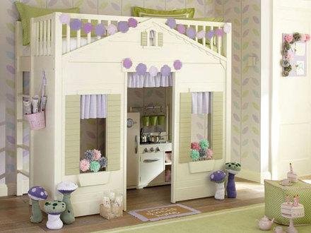 Playhouse Loft Bed Pottery Barn Pottery Barn Cottage Loft Bed