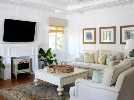 Shabby Cottage Chic Living Room Beach Cottage Living Room Design