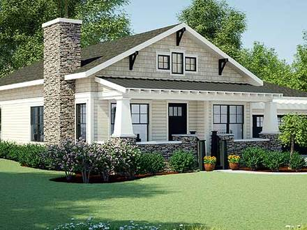Craftsman style interiors new craftsman style ranch home for Maine cottage house plans