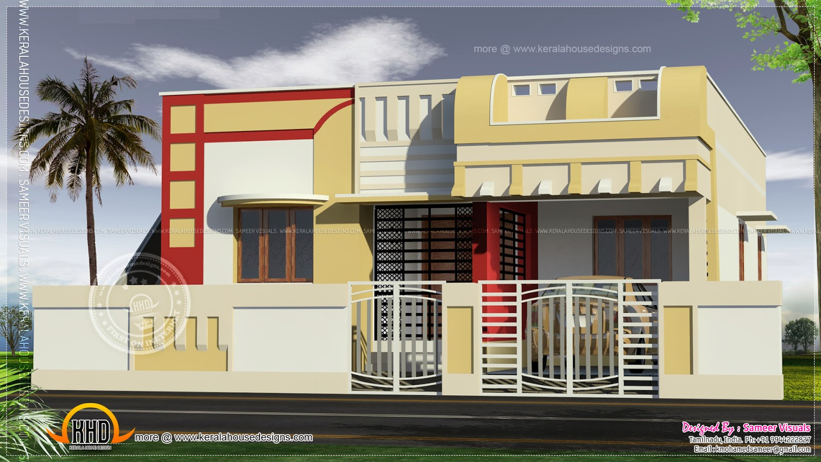 Simple house elevations small indian house elevation for Simple house elevation models
