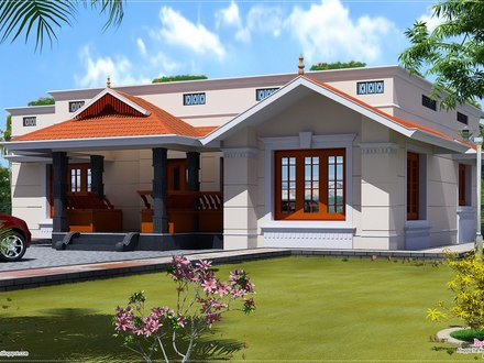 Single Floor House Front Design One Floor House Designs