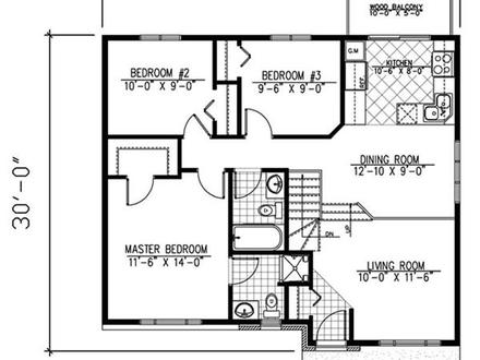 Small Bungalow House Floor Plans Small Two-Story Bungalow Houses