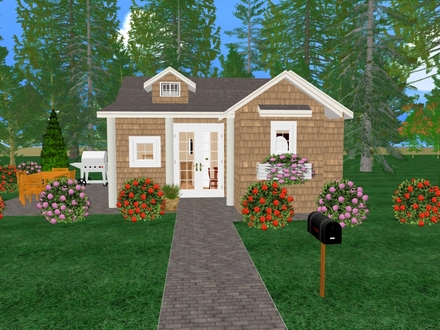 Simple small house floor plans small house plans under 500 for Small cozy home plans