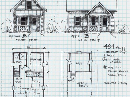 Small Lake Cabin Plans Small Cabin Plans with Loft