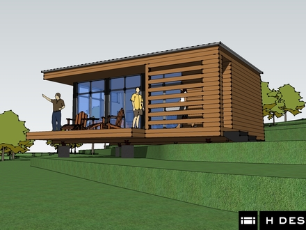 Small cabin building plans small modern cabin plans for Modern cabin plans with loft