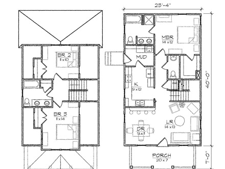Two-Storey House Designs Bungalow House Designs and Floor Plans