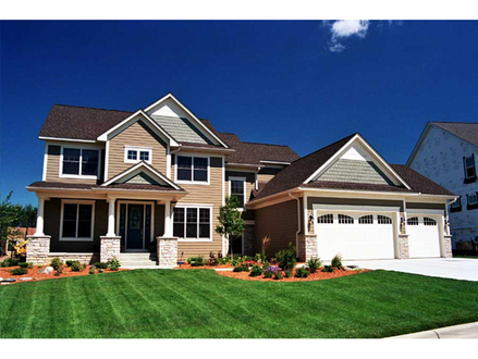 Two-Story House Plans with Wrap around Porch Two Story Craftsman Style House Plans