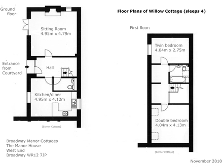Willow Cottage Dollhouse The Willows Cottage Floor Plans