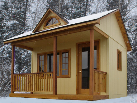 10 X 10 Cabin Bunkie Cabin with House