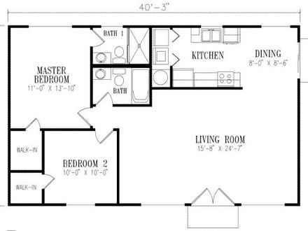 1000 Square Foot House Plans 1 Bedroom 500 Square Foot House