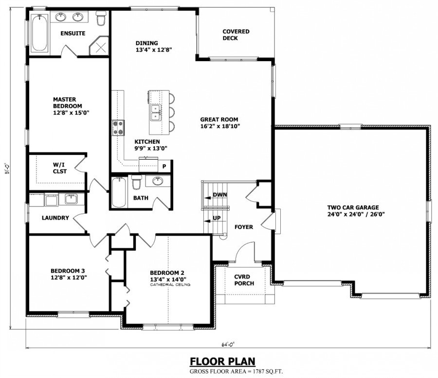 3 Bedroom House Floor Plans Canadian House Plans