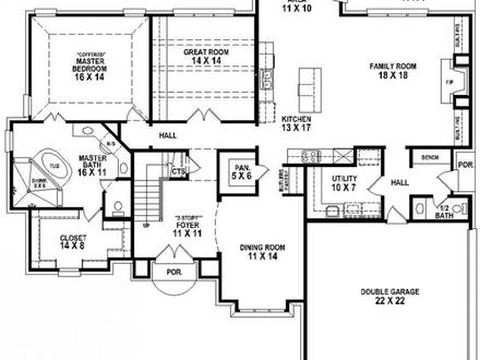 4 Bedroom 3 Bath Mobile Home Floor Plans 4 Bedroom 3 Bath House Plans