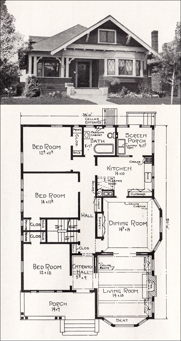 American bungalow floor plans vintage bungalow floor plans for American home floor plans