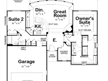 House Plans With A View House Plans With No Dining Room