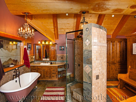 Extreme Log Home Master Bedrooms Log Home Bathrooms Interiors