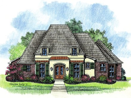French Country House Plans Country Ranch House Plans