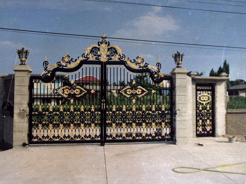 Iron House Gate Design Iron Garden Gate Designs