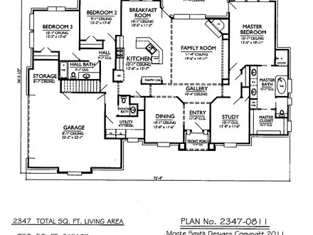 Master Bedroom Two-Story Deck 2 Story 3 Bedroom House Plans