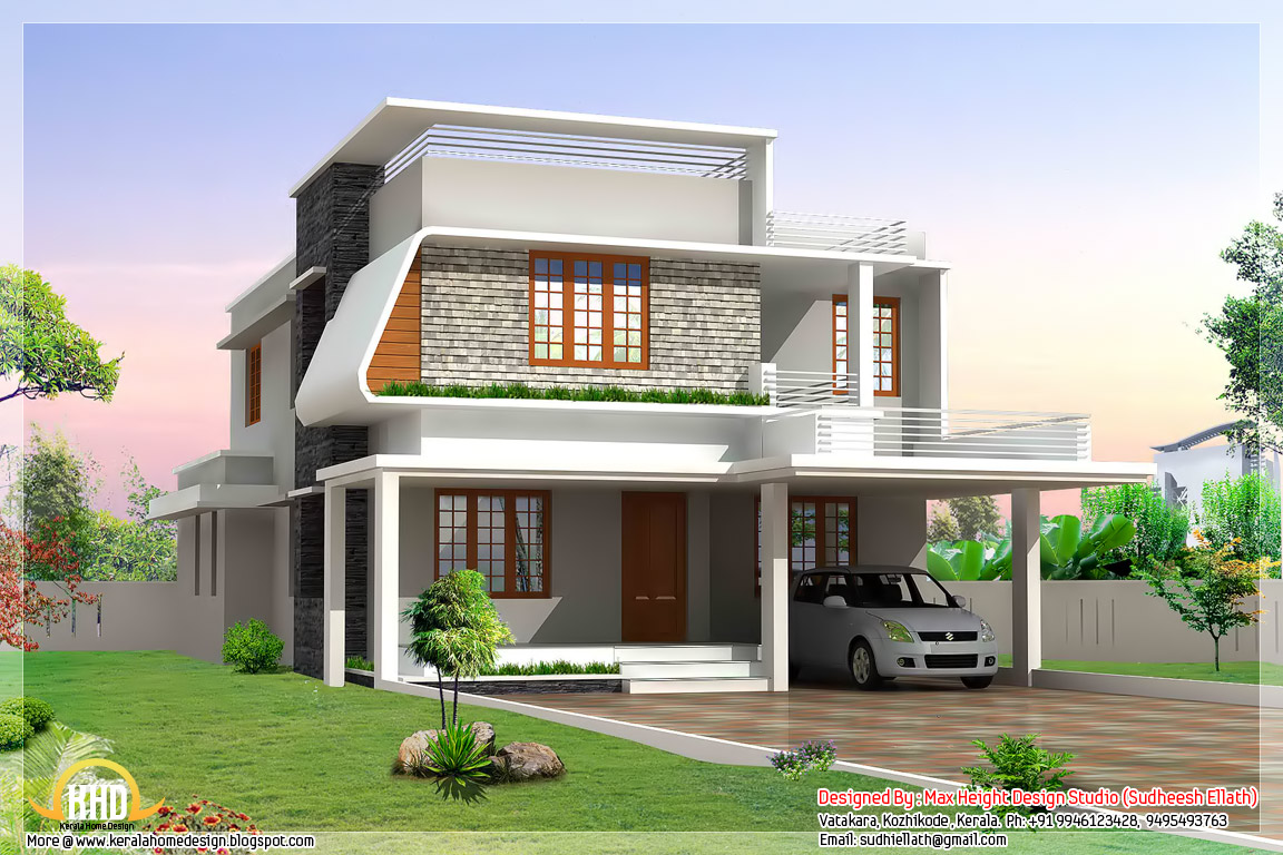 Modern house elevation designs modern classical for Home wallpaper chennai