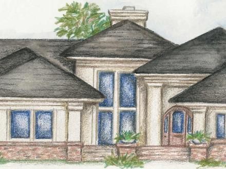 One Story Luxury Home Custom Single Story Home Plans