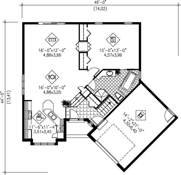 Plano de casa planos de casas para construir house plans for House plans with character
