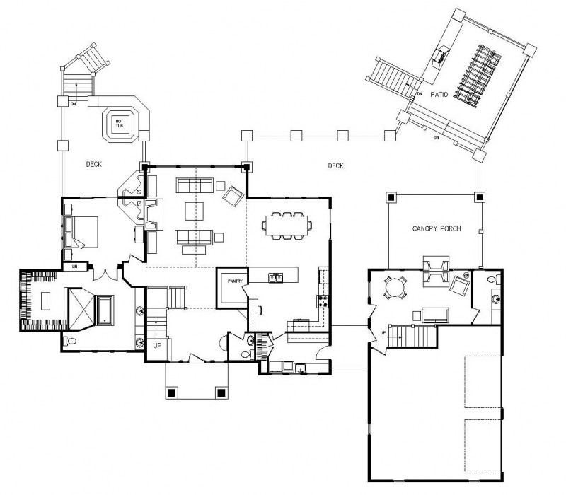 Ranch floor plans log homes log home floor plans log for Ranch log home floor plans