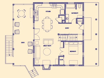 Small Cabin Floor Plans Small Guest House Floor Plans