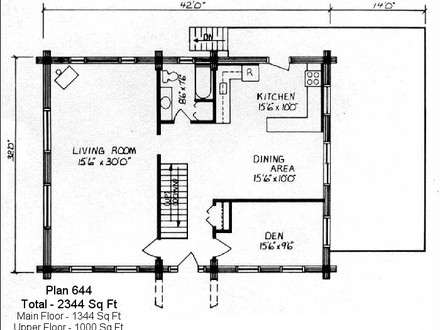 Mountain cabin plans cabin plans under 600 square feet for House plans less than 1000 square feet