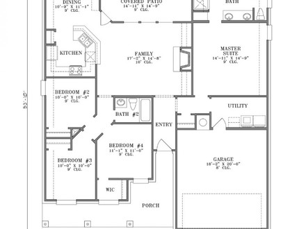 Small Two Bedroom House Floor Plans Simple Two-Story House Two Bedrooms