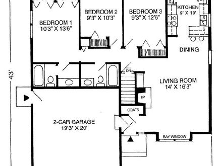 Sqft House Plans Br Ranch on