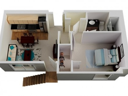 Tiny House Floor Plans Small One Bedroom House