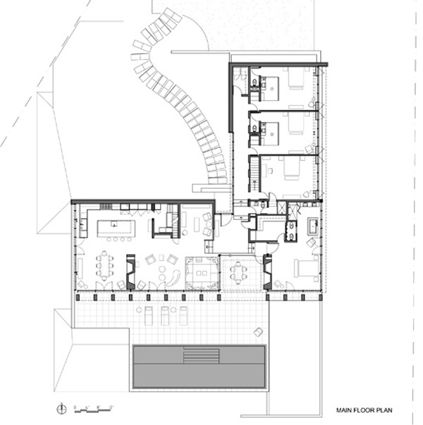 V shaped house plans waterfront waterfront house plan for V shaped house