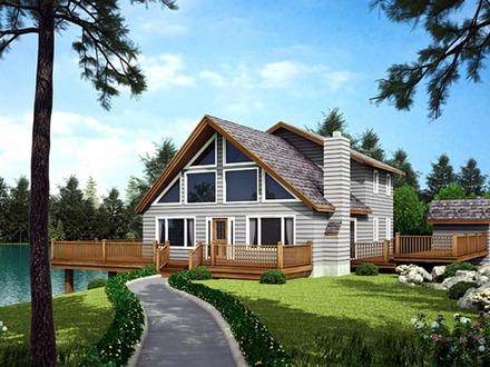 Waterfront Homes House Plans Waterfront House with Narrow Lot Floor Plan
